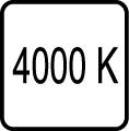 4000 K - Denn� biele svetlo