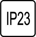 IP 23 - Stupeň IP ochrany svietidiel