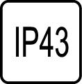 IP43 externé svietidlo - Stupeň IP ochrany svietidiel