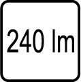 Svetelný tok v lumenoch - 240 lm