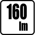 Svetelný tok v lumenoch - 160 lm