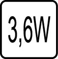 Maximálny príkon 3,6W