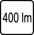 400 lm