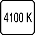 Teplota chromatickosti - 4100 K - Denné biele svetlo