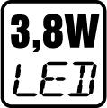 Príkon LED 3,8 W