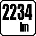 Svetelný tok v lumenoch - 2234 lm