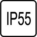 IP 55 - Stupe� IP ochrany svietidiel