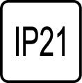 IP 21 - Stupeň IP ochrany svietidiel