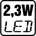 Príkon LED 2,3W