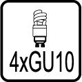 Typ objímky / pätice GU10 usporna