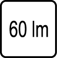 Svetelný tok v lumenoch - 60 lm