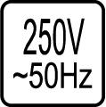 Určené pre napájacie napätie 250V 50 Hz