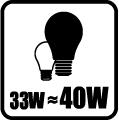 Náhrada klasickej žiarovky - 33W = 40W