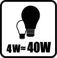 Náhrada klasickej žiarovky - 4W = 40W