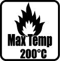 Maximálna teplota >200 °C