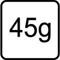 Hmotnosť v gramoch - 45 g