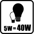 Náhrada klasickej žiarovky - 5W = 40W