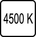 Teplota chromatickosti - 4500 K - Denné biele svetlo