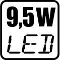 Príkon LED 9,5W