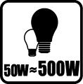 Náhrada klasickej žiarovky - 50W = 500W