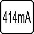 Spotreba el. prúdu v mA - 414 mA