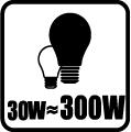 Náhrada klasickej žiarovky - 30W = 300W