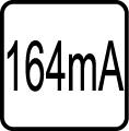 Spotreba el. prúdu v mA - 164 mA