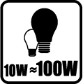 Náhrada klasickej žiarovky - 10W = 100W