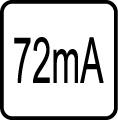 Spotreba el. prúdu v mA - 72 mA