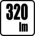 320 lm - Svietivos� v lumenoch