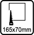 Výrez 165x70 mm