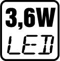 Príkon LED 3,6 W
