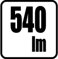 Svetelný tok v lumenoch - 540 lm