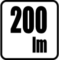 Svetelný tok v lumenoch - 200 lm