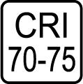 Index podania farieb (kvalita osvetlenia) CRI 70-75