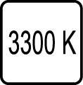Teplota chromatickosti - 3300 K - Teplé biele svetlo