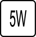 Maximálny príkon 5W