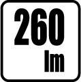 Svetelný tok v lumenoch - 260 lm