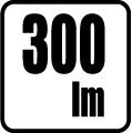 Svetelný tok v lumenoch - 300 lm
