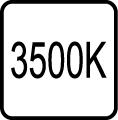 Teplota chromatickosti - 3500 K - Teplé biele svetlo