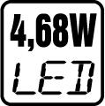 Príkon LED 4,68W