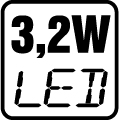 Príkon LED 3,2W
