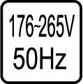 Určené pre napájacie napätie - 176-265V