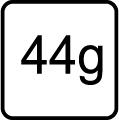 Hmotnosť v gramoch - 44g