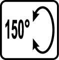 Uhol naklapania 150°