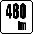 Svetelný tok v lumenoch - 480 lm
