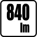Svetelný tok v lumenoch - 840 lm