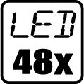 Počet LED čipov - 48x