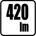 Svetelný tok v lumenoch - 420 lm