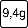Hmotnosť v gramoch - 9,4g